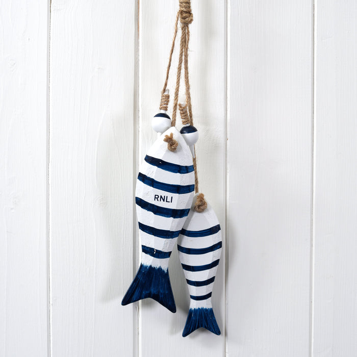 RNLI Wooden Fish Decoration Blue