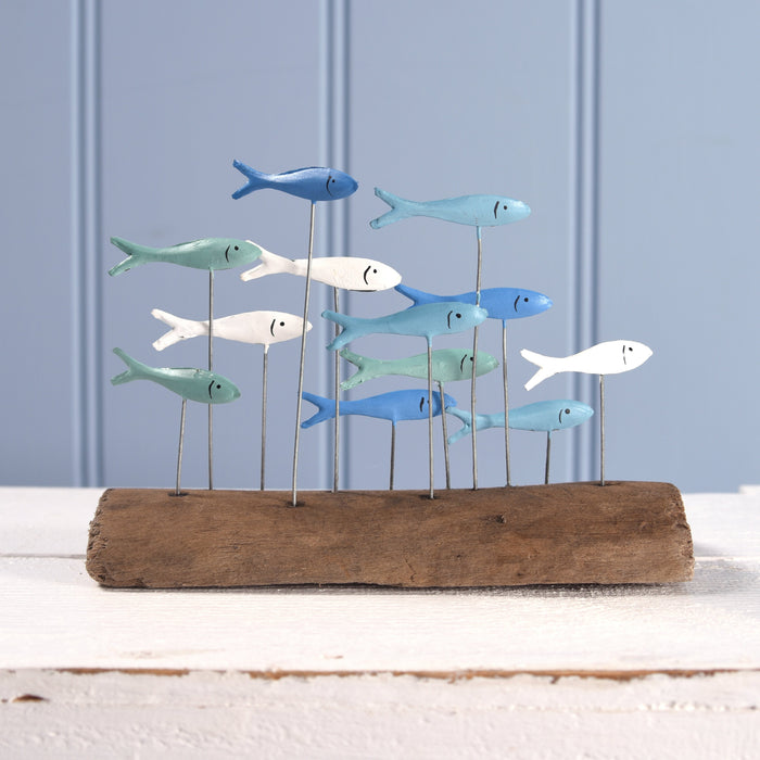 School Of Fish Driftwood Decoration