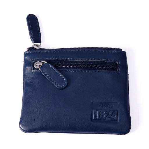 Since 1824 Leather Coin Purse Navy