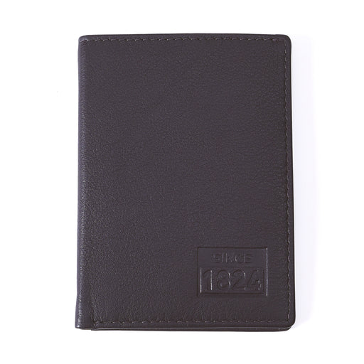 Since 1824 Leather Credit Card Holder Brown