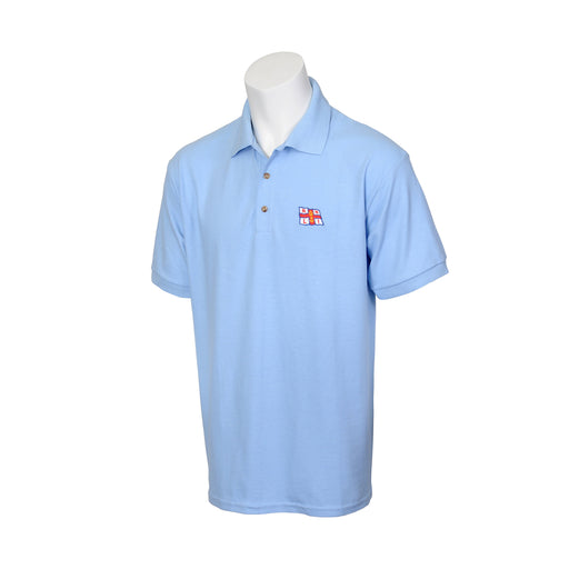 Unisex Flag Polo Shirt Pale Blue