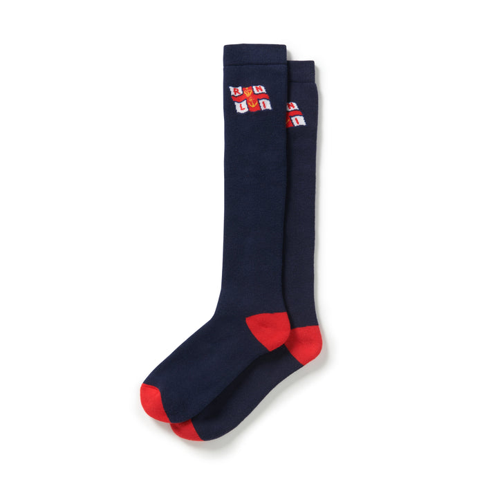 Unisex Flag Welly Boots Socks Navy