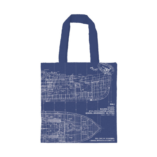 Watson Blueprint Reversible Canvas Bag