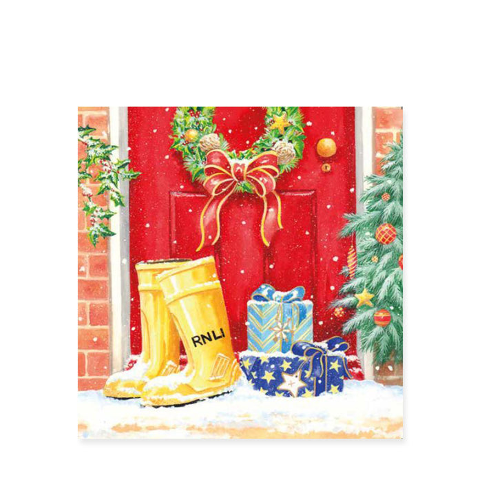 Winter Wellies, Pack of 8 Christmas Cards