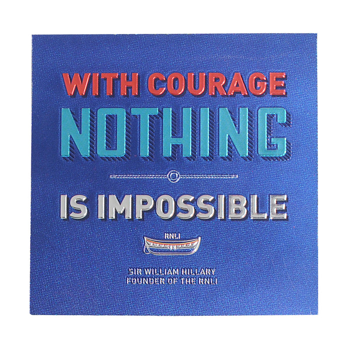 With Courage Fridge Magnet
