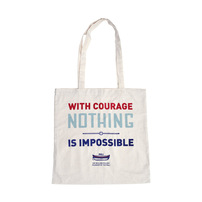 With Courage Tote Bag