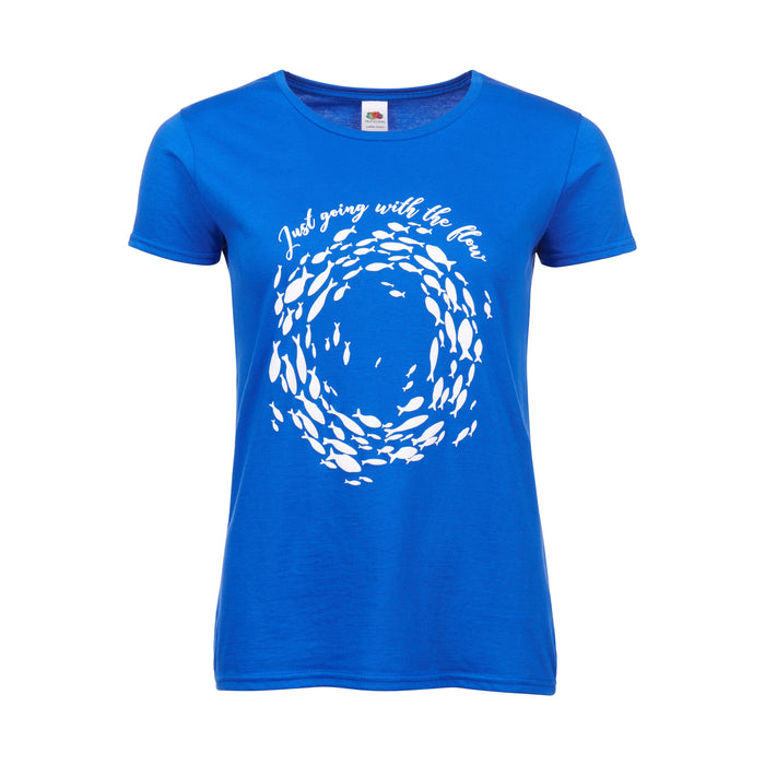Women's Go With The Flow T-Shirt Metro Blue