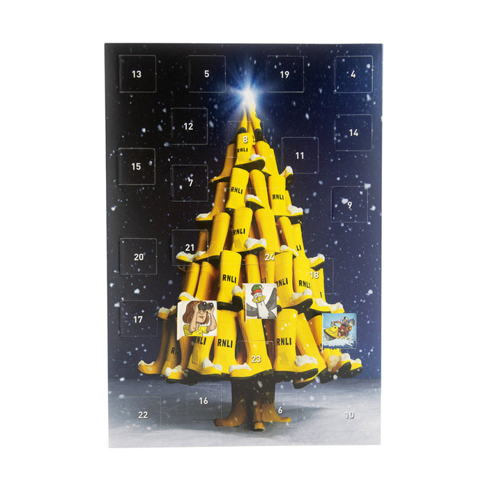 Yellow Welly Advent Card