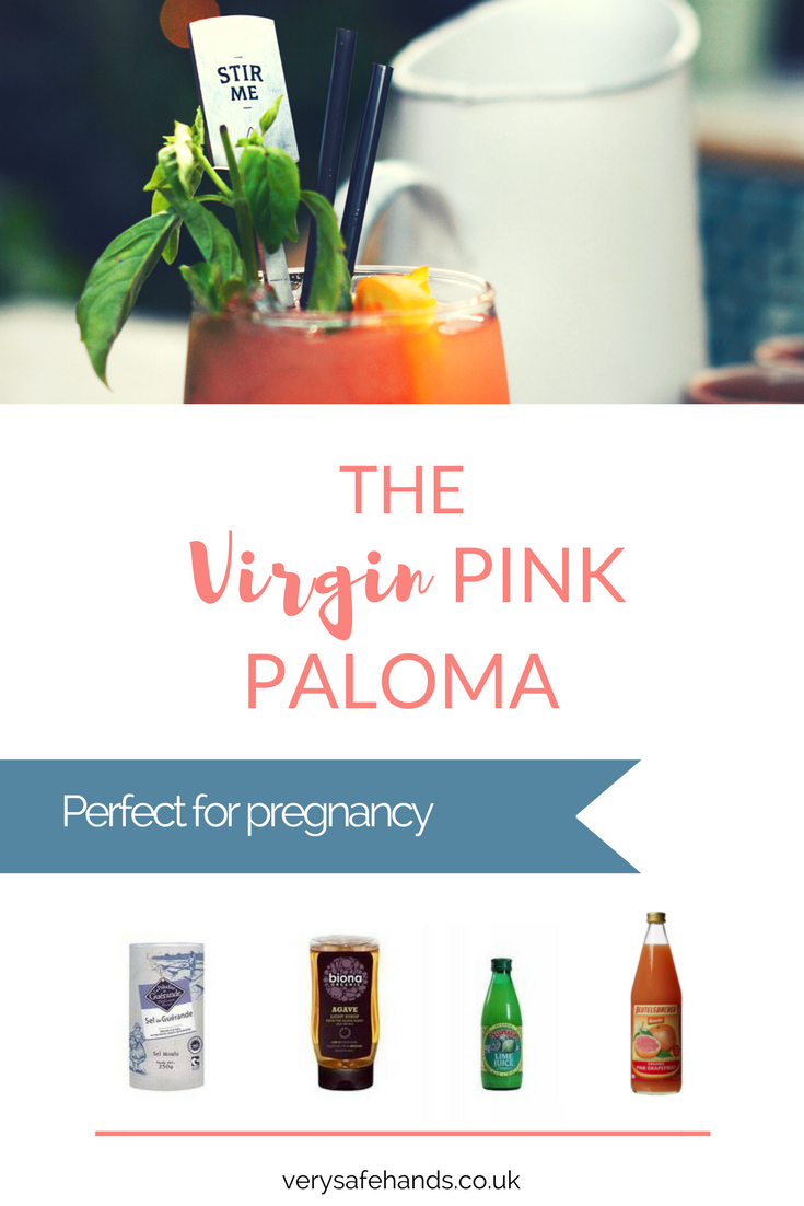 Virgin Pink Paloma >> Mocktail / non-alcoholic cocktail / soft drink for pregnant and breastfeeding mums