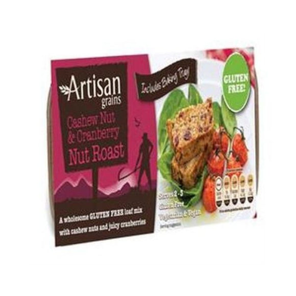 Artisan Grains Cashew & Cranberry Gluten Free Nut Roast Mix