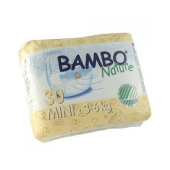 Bambo Nature Nappies - Size 2 / Mini, 3-6kg (7-13lb)
