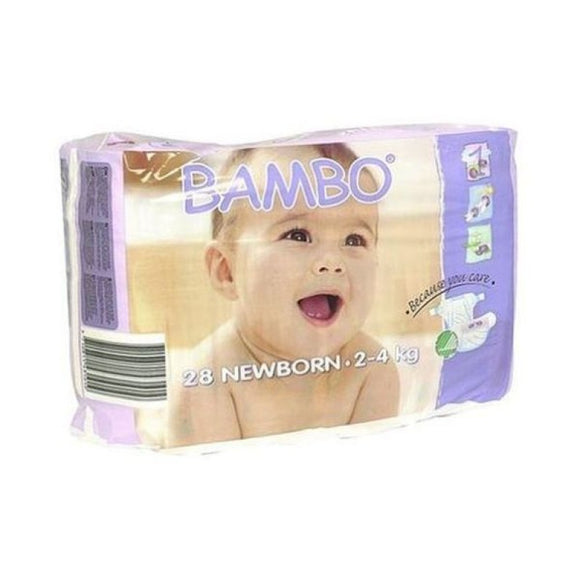 Bambo Nature Nappies - Size 1 / Newborn, 2-4kg (4-9lb)
