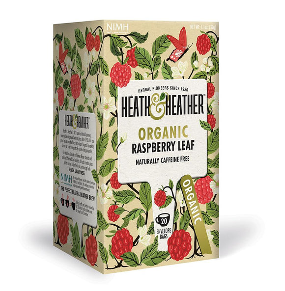 Heath & Heather Organic Raspberry Leaf Tea Bags