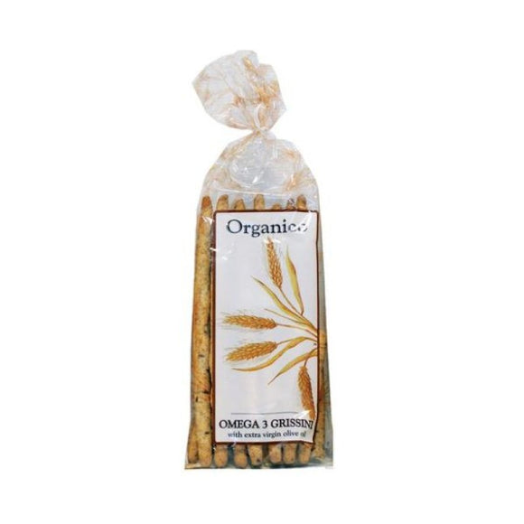 Organico Omega 3 Wholewheat & Flaxseed Breadsticks