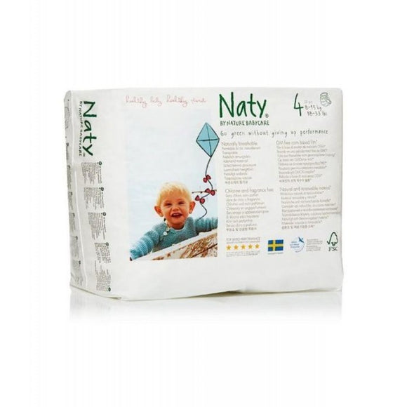 Nature Baby Naty Nappy Pants - Size 4 / Maxi Nappy Pants, 8-15kg (18-33lb)