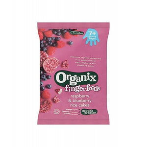 Organix Raspberry & Blueberry Rice Cakes (7+)
