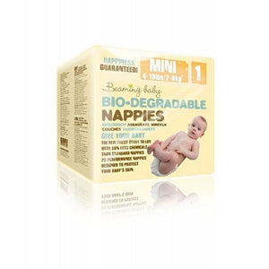 Beaming Baby Bio-Degradable Nappies - Size 1 / Mini, 2-6kg (4-13lb)