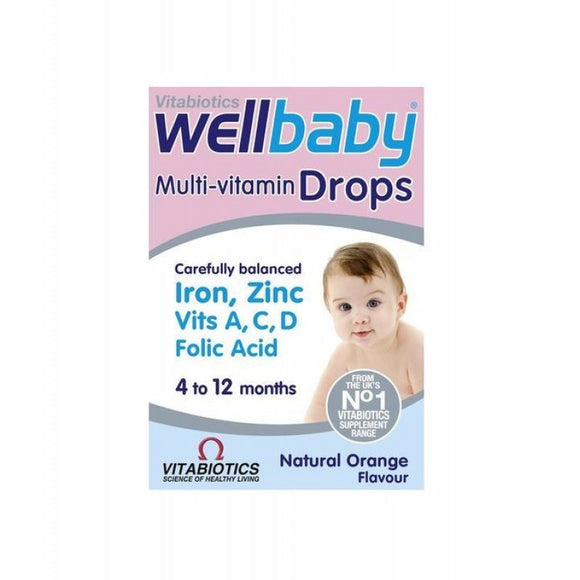 Vitabiotics Wellkid Baby Drops - Liquid