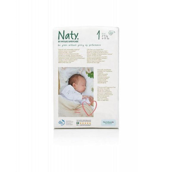 Eco by Naty Nappies Month Pack Size 1 / Newborn, 2-5kg (4-11lb)