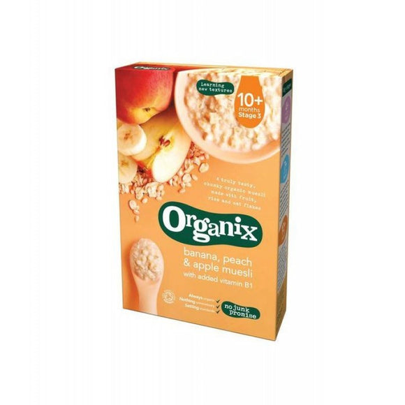 Organix Banana Peach & Apple Muesli (10+)
