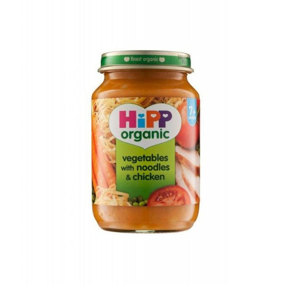 HiPP Vegetables With Noodles & Chicken (10+)