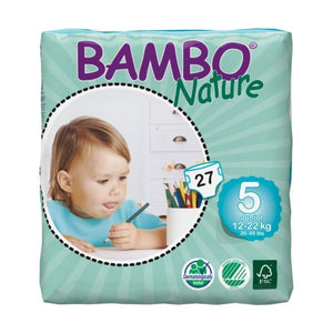 Bambo Nature Nappies - Size 5 / Junior, 12-22kg (26-49lb)