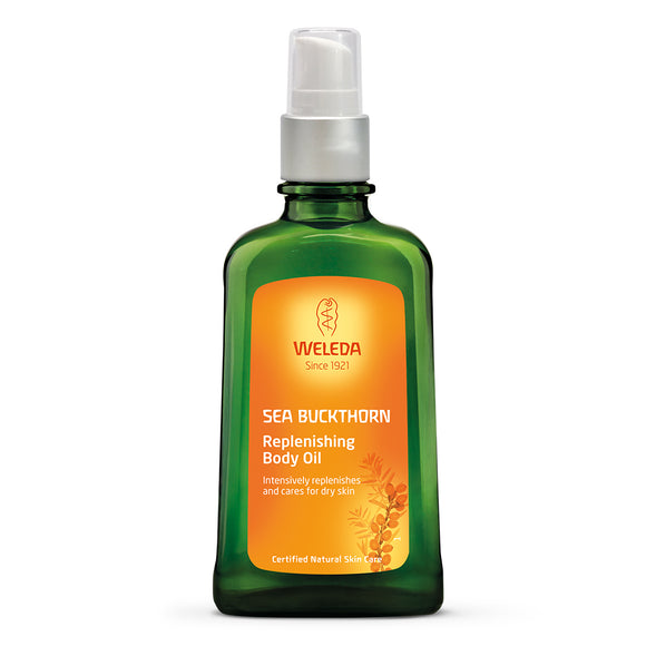 Weleda Sea Buckthorn Replenishing Body Oil Bottle