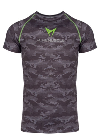 Camouflage Training T-Shirt Black/Grey