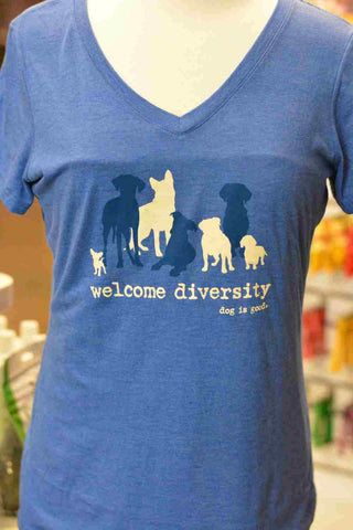 Welcome Diversity V-Neck T-Shirt