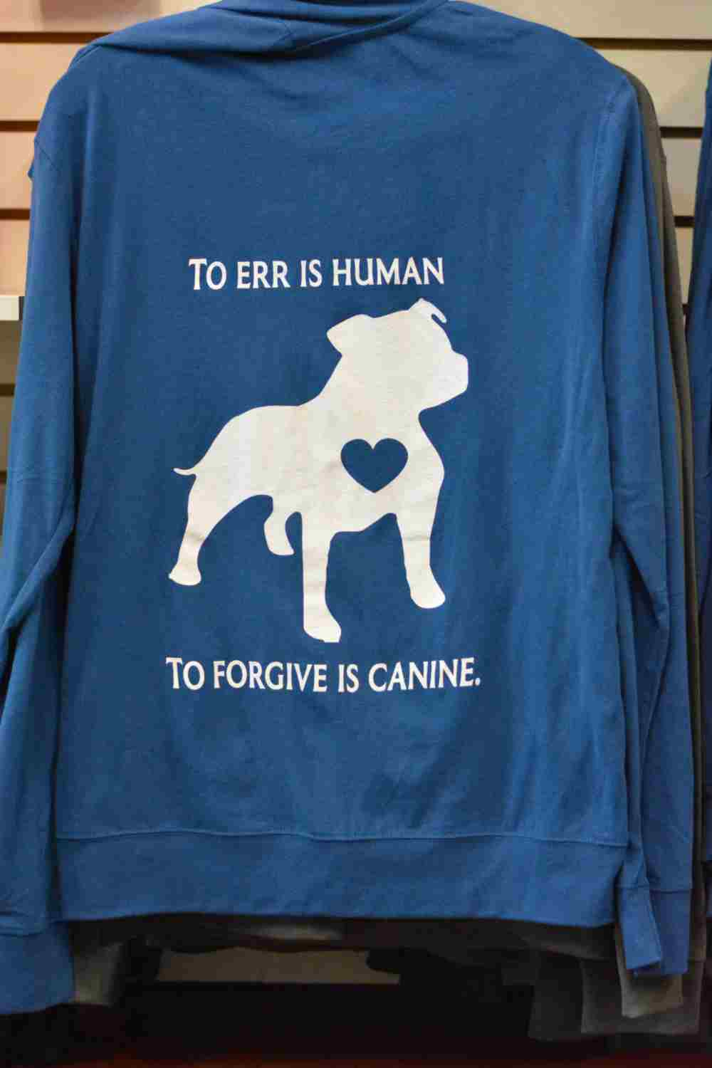 151005631d8b Full Zip Hooded Jacket - To err is human, to forgive is canine. (2 ...