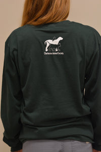Long Sleeve T-Shirt - My dog found me at Charleston Animal Society (4 color options!)