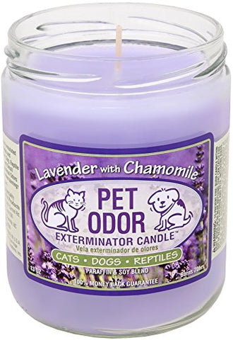 Candle - Pet Odor Exterminator - Lavender and Chamomile