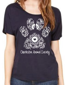 Ladies Paw Print Tee