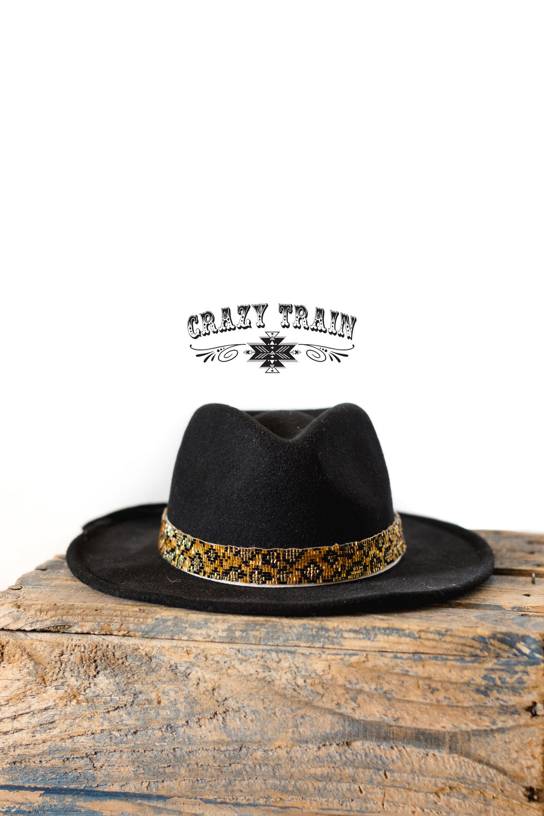 Leo Bound Beaded Hatband