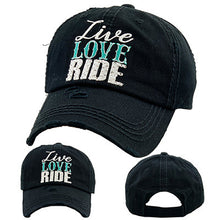 Load image into Gallery viewer, Live Love Ride Caps