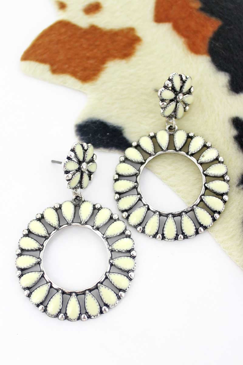 Saratoga Circle Earrings