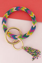 Load image into Gallery viewer, Beaded key ring bangles