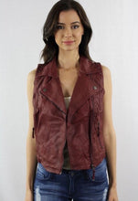 Load image into Gallery viewer, Wine vegan leather vest