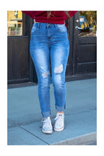 Load image into Gallery viewer, Cuffed Denim Skinnies