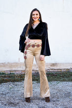 Load image into Gallery viewer, Beige suede Flares