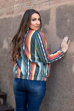 Load image into Gallery viewer, Charcoal Serape Bomber Jacket
