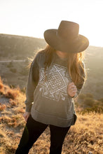 Load image into Gallery viewer, Burn washed Aztec Hoodie
