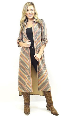 Leo rodeo button up duster