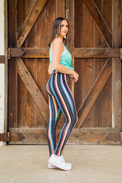 Black serape leggings