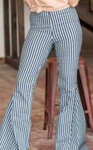Load image into Gallery viewer, L&B Striped High Waisted Bell Bottom Jeans