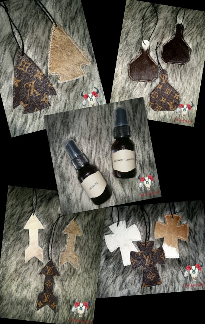 LV and cowhide refreshing air freshener kit