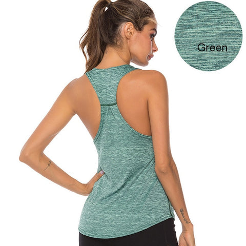 Sleeveless Racerback Workout Top