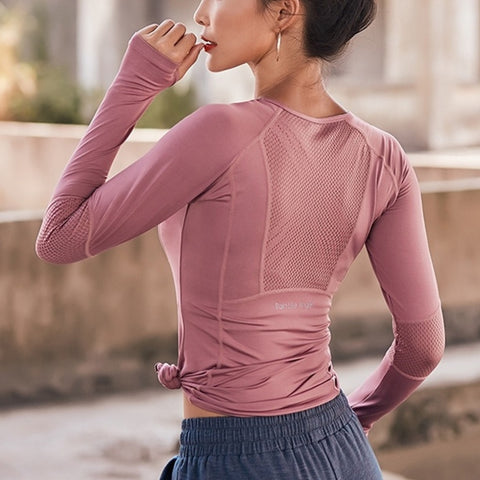 Seamless Long Sleeve Workout Top