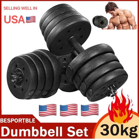 Adjustable A Pair of 30kg Dumbbell Weight Set