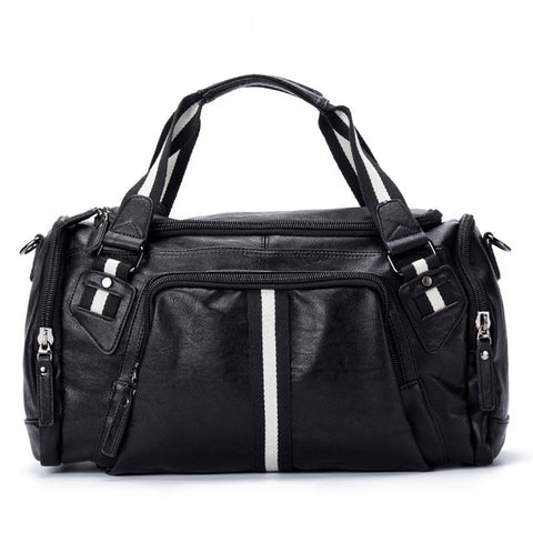 PU Leather Large Gym Bag with Strap